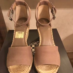 NEW in the box taupe wedge